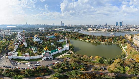 Аэропанорама Новодевичьего монастыря.